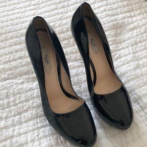 Authentic Patent leather Prada heels
